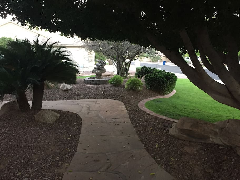Walkway to entry