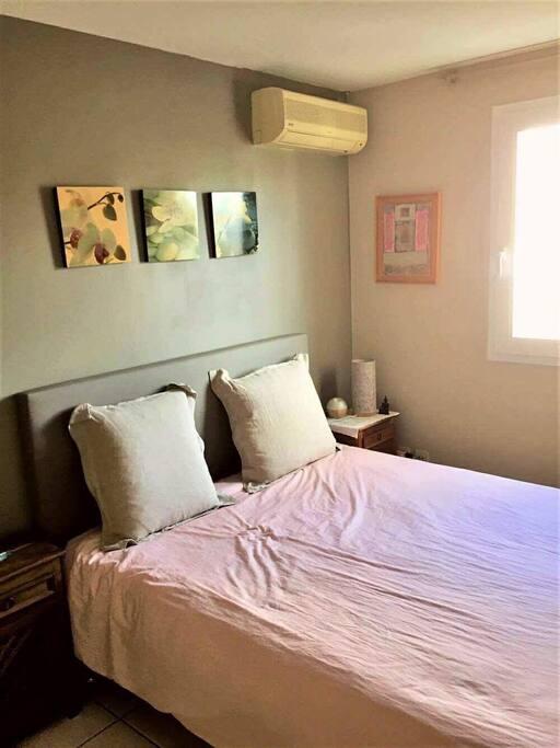 Chambre climatisée et calme