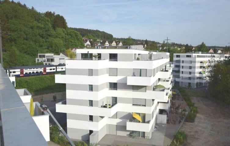 Luxuriöse Attikawohnung mit 2 Terrassen - Winterthur - Pis
