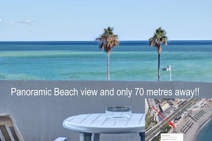 Panoramic Beach View Corner Apartment & Central!