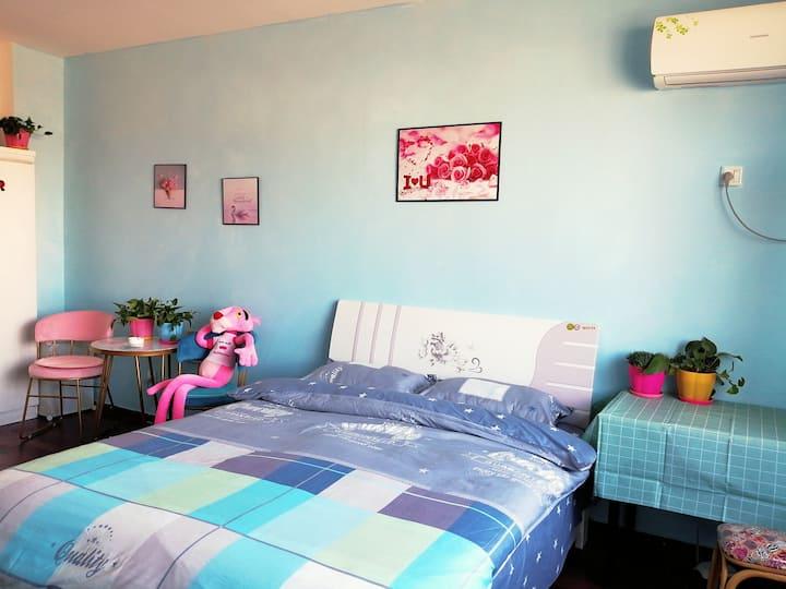【简希民宿t】潍坊学院店|包月特惠|有暖气可做饭|一室大床|低价收费停车场|近潍柴|歌儿|软件园|