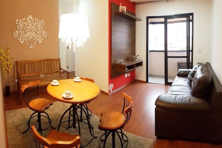 Meu lindo apartamento em SP. EXPO SP- 7min 4,5km.