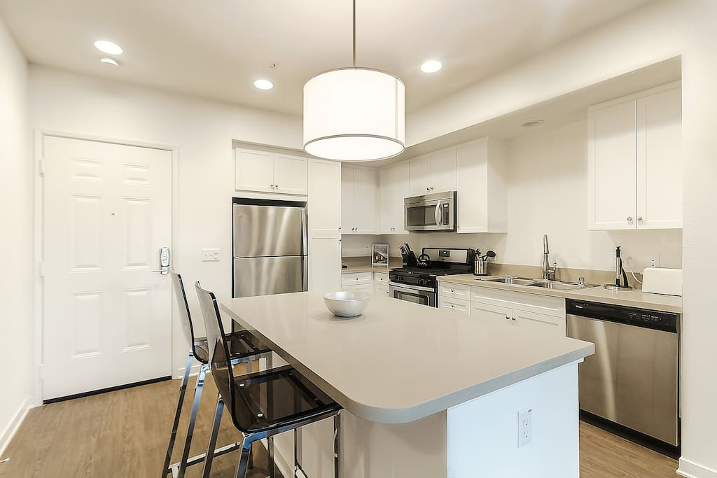 Fully Equipped Kitchen with all you need to enjoy a home-cooked meal