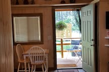 Dining area/looking onto porch