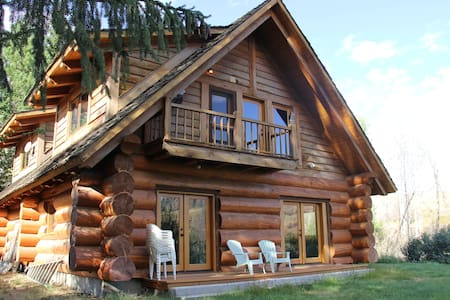 Gorgeous Creekside Cabin on Exclusive Ranch - Twisp - 小木屋