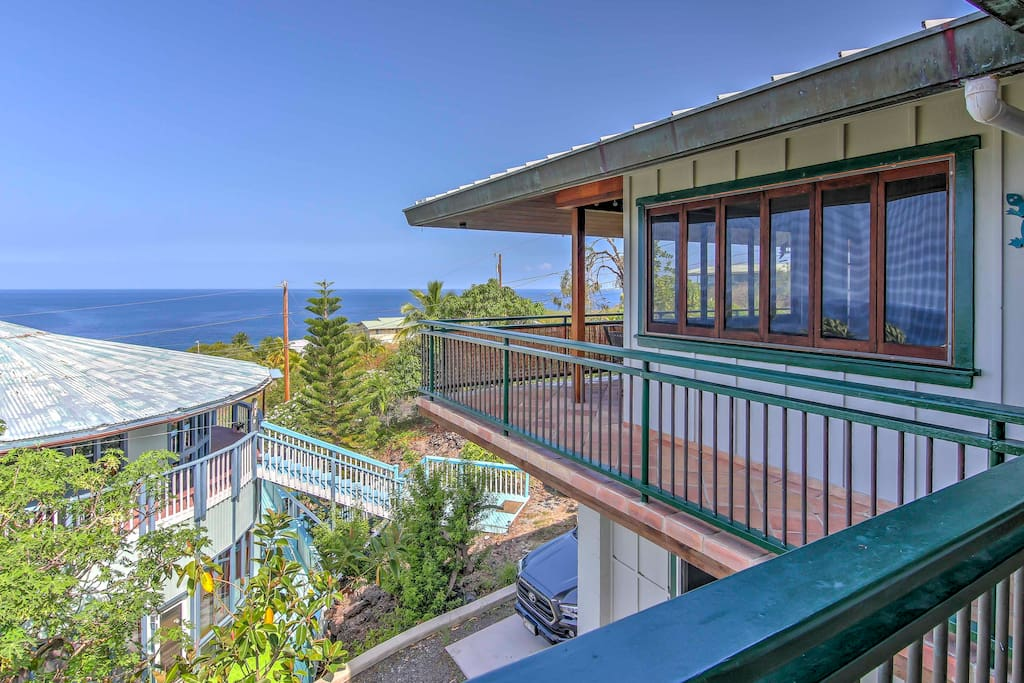 This spectacular property boasts a wrap-around lanai with tranquil ocean views.