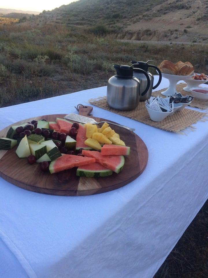 Desayuno en Desierto Bardenas