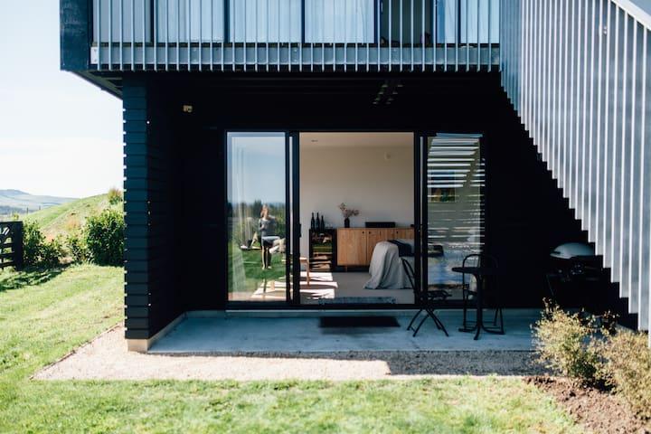 The studio and private garden
