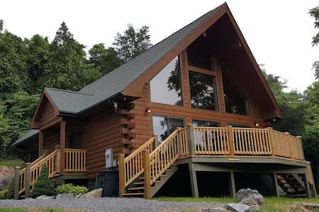 Log A-frame, private lakefront - Piney Flats