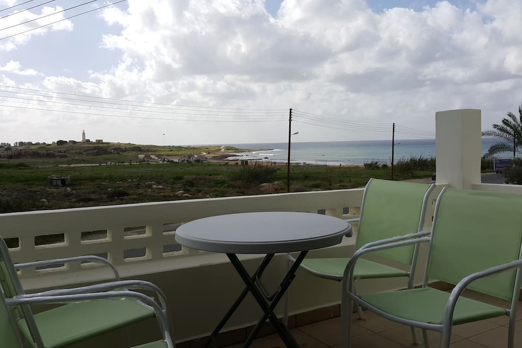 THE BALCONY AND SEAVIEW.