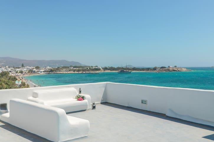 Unique Beachfront Cycladic Villa | Agios Prokopios - Agios Prokopios