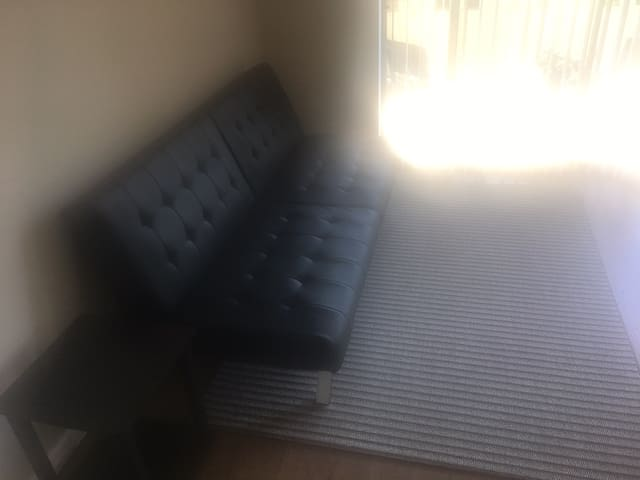 Futon in living room for rent in 1 bedroom place