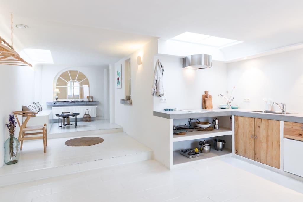 The apartment is spacious yet has cozy corners.