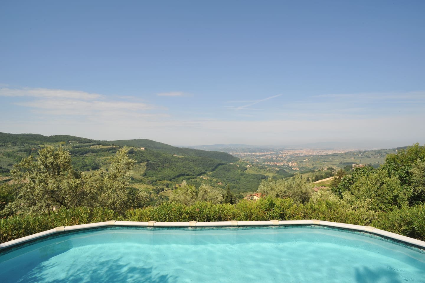 Swimming pool with Florence view