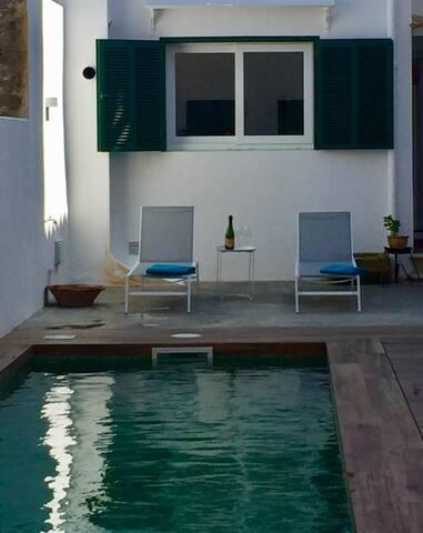 Bonita piscina compartida