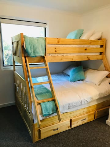 Bedroom 2 consists of a comfortable double and single bed bunk.