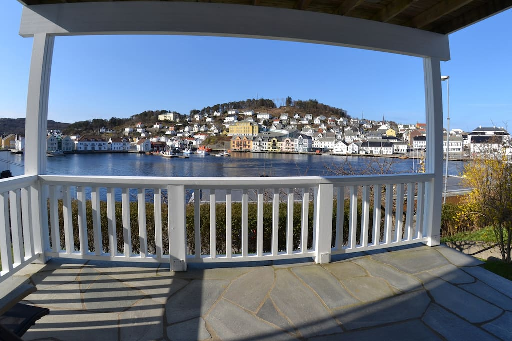 Great view over Farsund town center.
