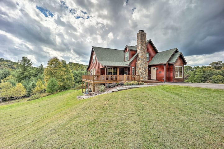 NEW! Large Mountain-View Manor w/Easy River Access
