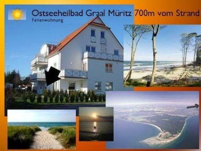 Ferienwohnung 650m vom Strand in Graal Müritz - Graal-Müritz - Apartment