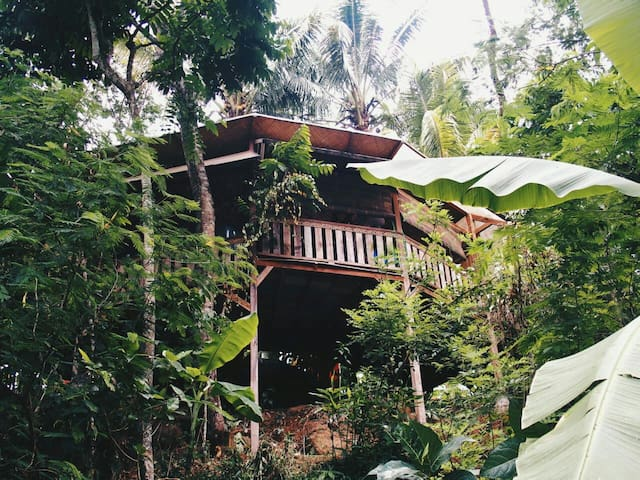 Java Jungle Honeymoon Bungalow. Fabulous view.