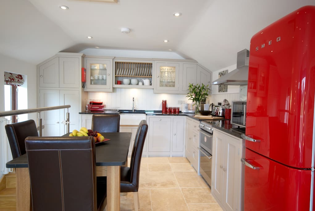 Gillyflower's open plan kitchen and dining room