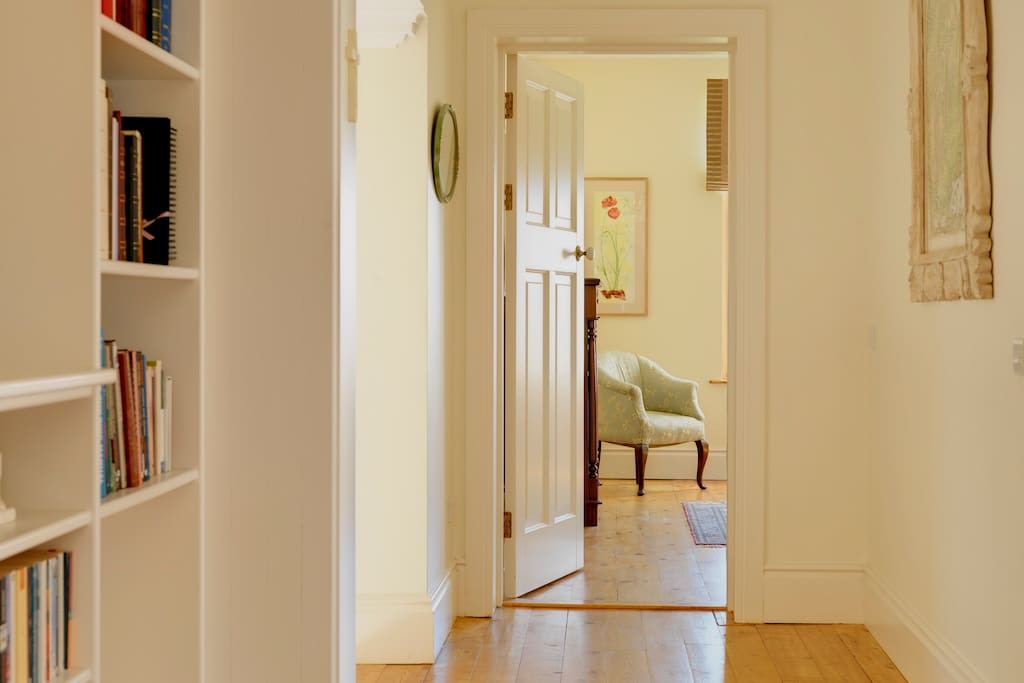 The hallway leading to the double room