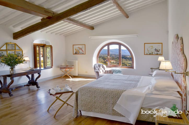 one of the double bedroom with view