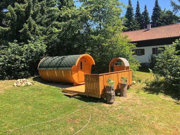 Ferienhaus Burgblick mit Außensauna