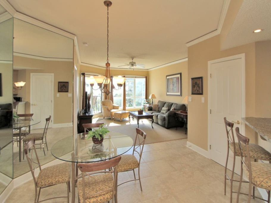 Living Room is Open to Dining Area and Kitchen at 3403 Windsor Court South