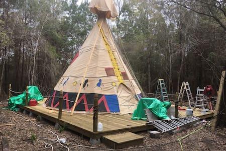 Spend the night in a real teepee - Abita Springs - Tiipii