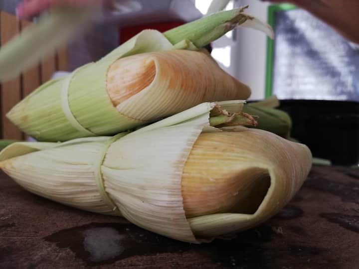 tamales en hoja