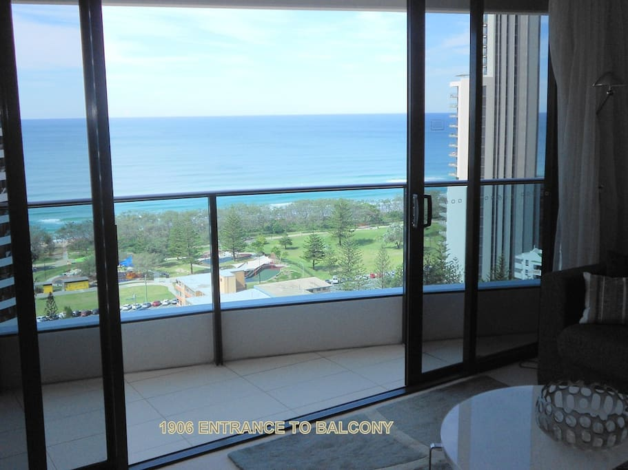 Ocean views from living area and balcony