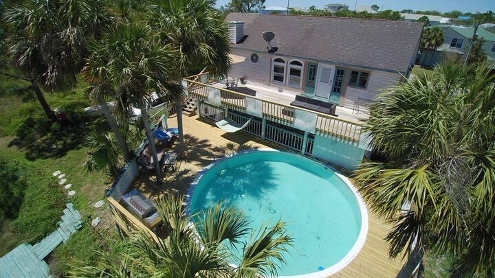 Fun Beach House with Pool (Downstairs)