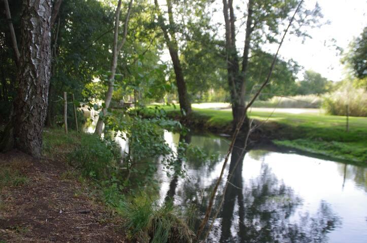 """La rivière """"La Vanne"""" au bout du jardin"""