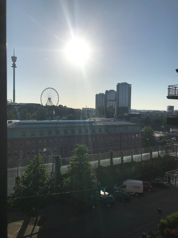 Room with a view in Liseberg . Very bride