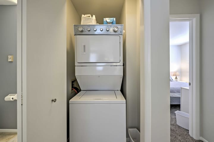 Keep your beach towels fresh for the next day with the in-unit laundry machines.