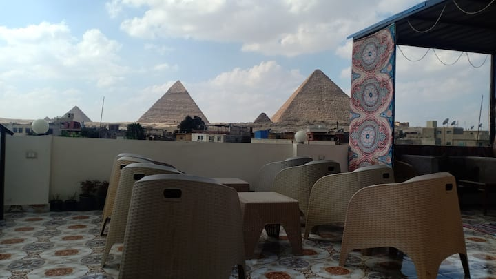 """ Private Room In front of The Pyramids """
