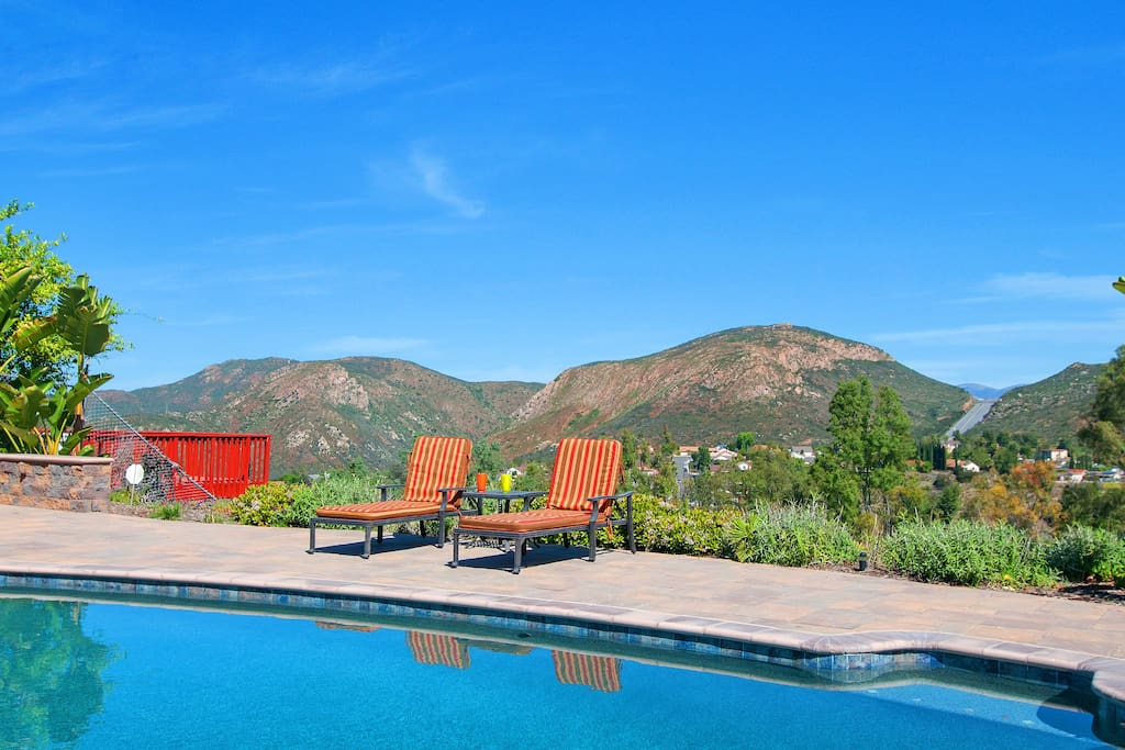 A magnificent view while you sit by the pool.