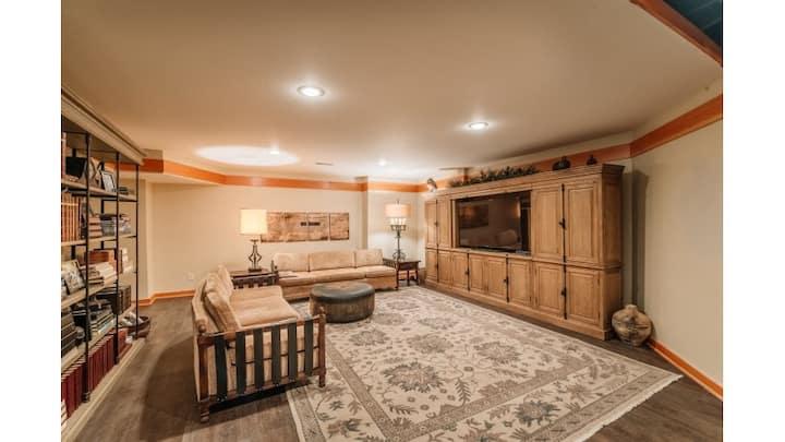 Finished basement space on 10 acres of paradise