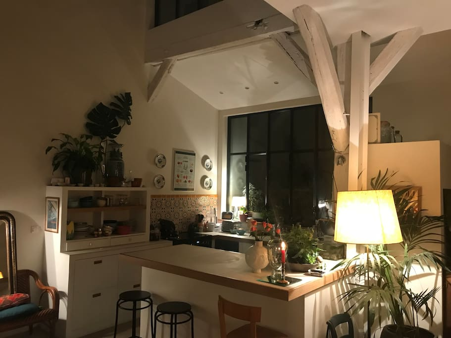 Cosy kitchen by Night