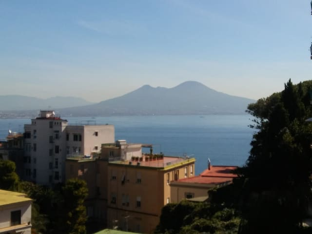 Cozy Home seaview. BALCONY ON VOLCANO VESUVIO