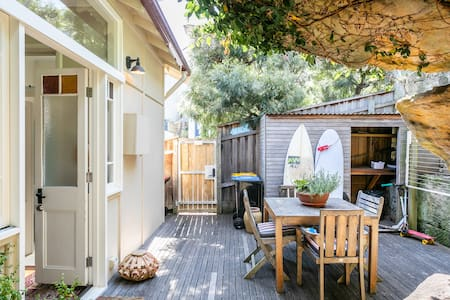 Manly Beach Cottage with private garden.