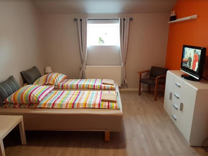 Dejlige værelser i rolige omgivelser