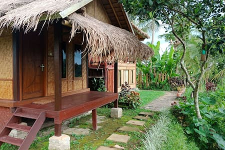 Bamboo Eco Bungalow with the Agricultural  View