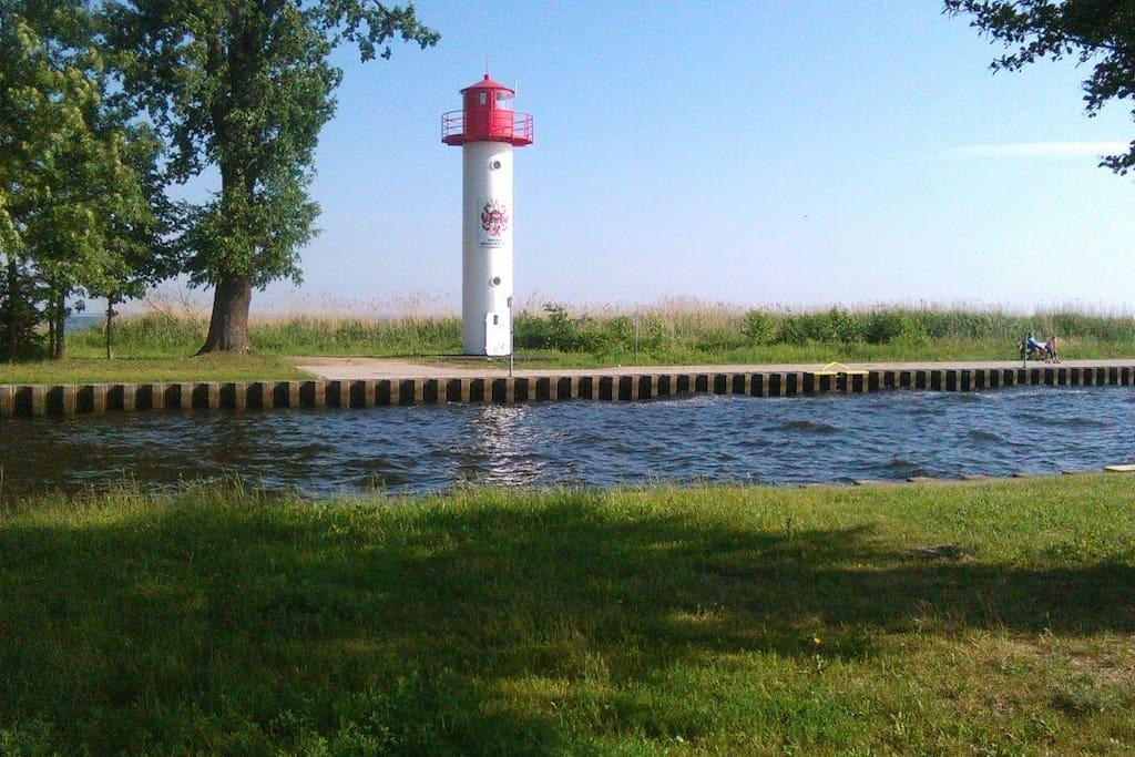 Leuchtturm am Uecker kanal