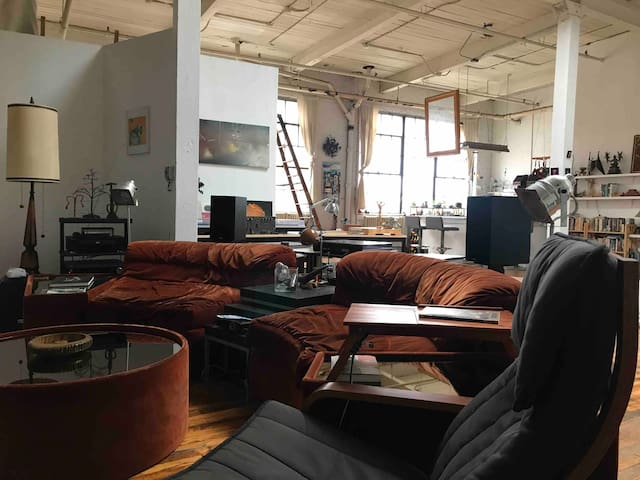 Post-Industrial Detroit Artist's Loft