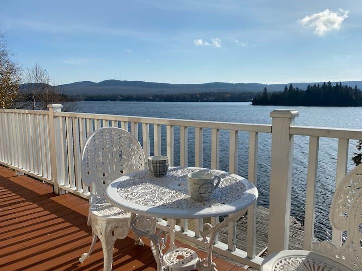 Le Paradis du Lac Trois-Saumons- bord de Lac