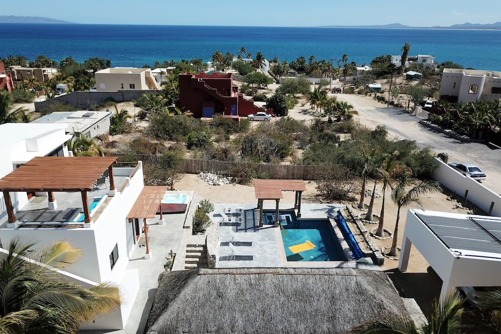 Areal views of Casa Torote with espectacular ocean view