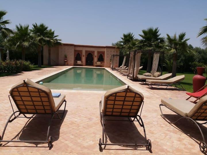 Villa chaleureuse Marrakech