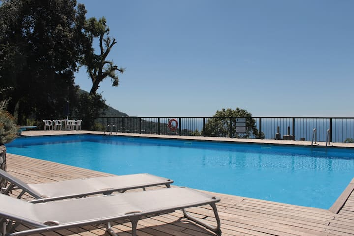 TURCHESE park, swimming pool, tennis with sea view